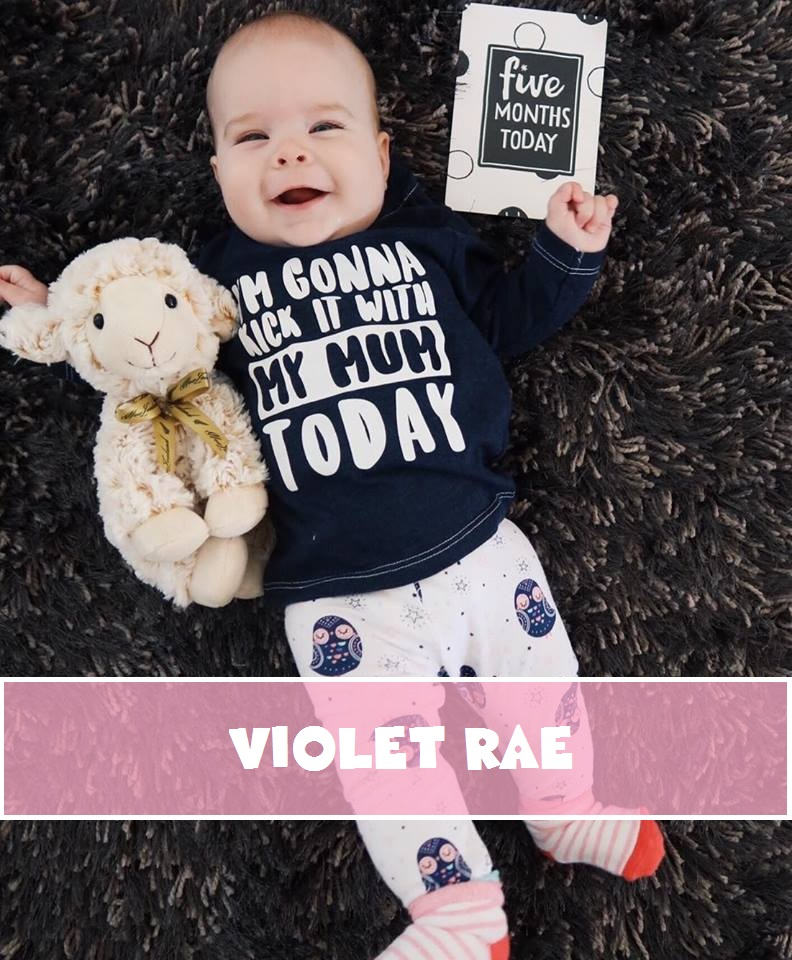 Violet Rae – 5 Months New